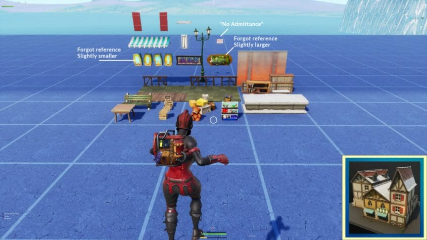 Klein Rood Bankje.Complete Catalog Of Hidden Props And Pieces Fortnite Creative Hq
