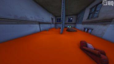 Floor is orange juice