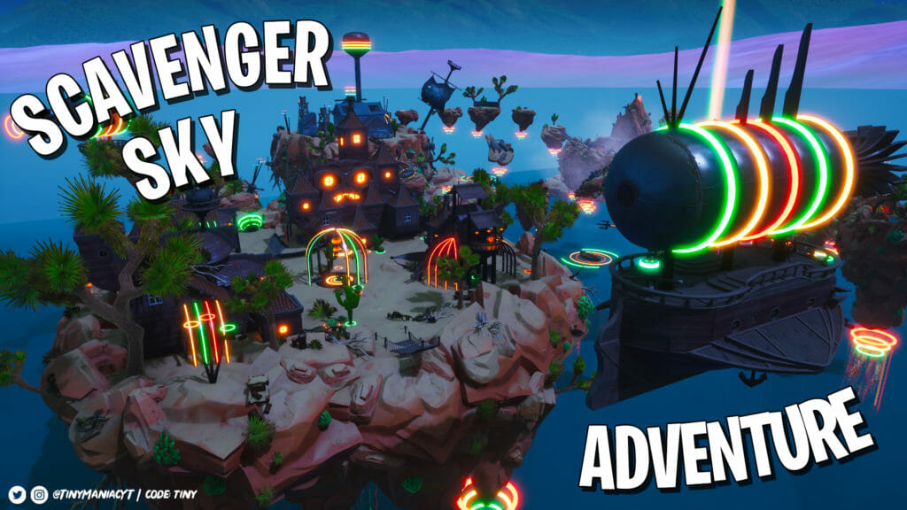 Scavenger Sky Adventure tiny - Fortnite Creative Map Code