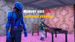 Memory quiz 3.0