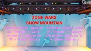 ZONE WARS – SNOW MOUNTAIN